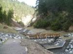 Übergang Hochwasserverbauung